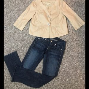 Michael Kors Peplum lightweight Tan Jacket